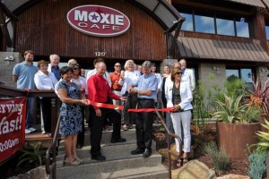 The Ribbon Cutting ceremony for the Moxie Cafe