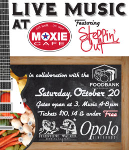 Outdoor Concert Series @ MOXIE Cafe Featuring Steppin Out!